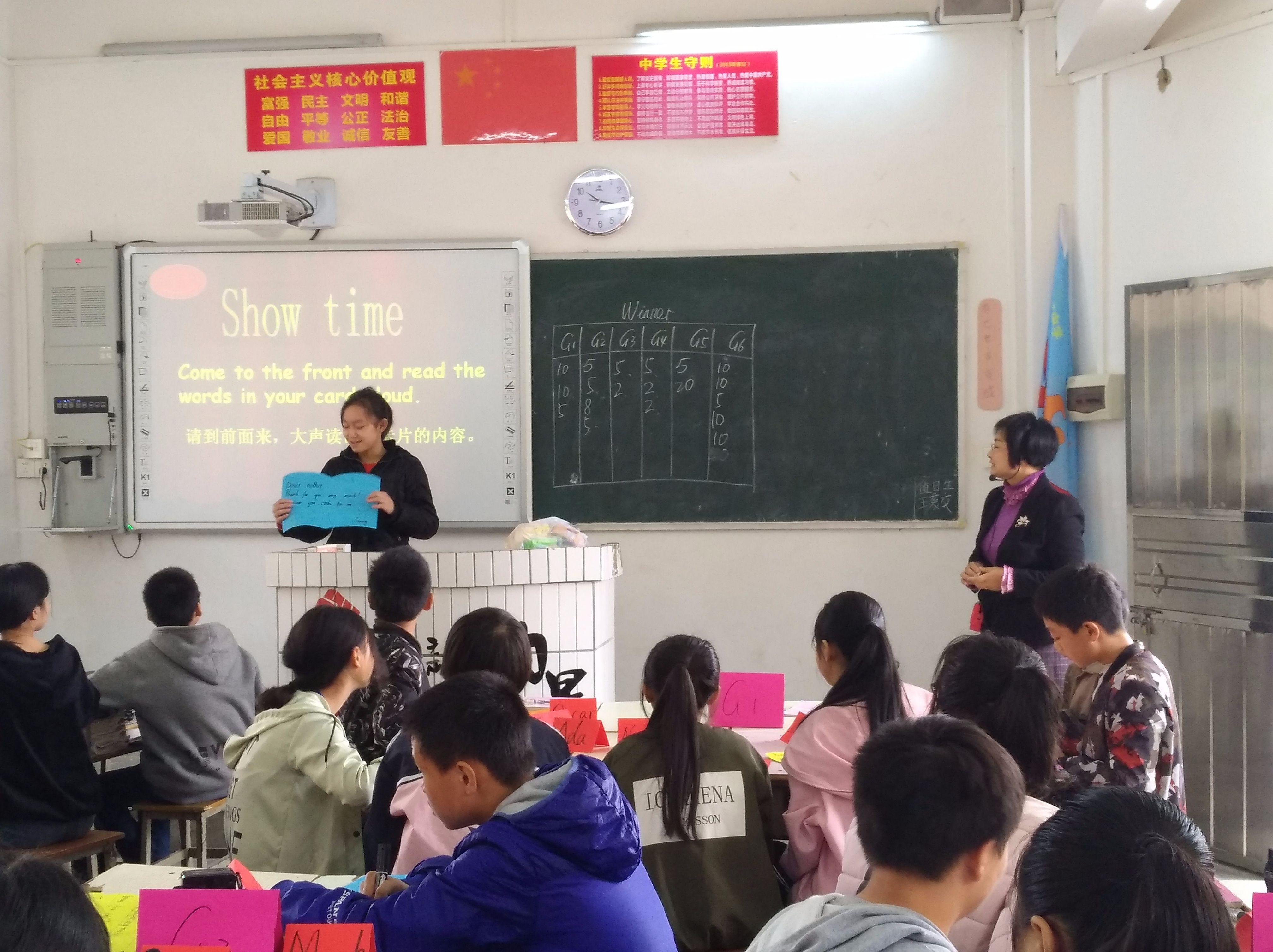 我校市英語名師工作室主持人劉艷芳送課下鄉活動簡訊