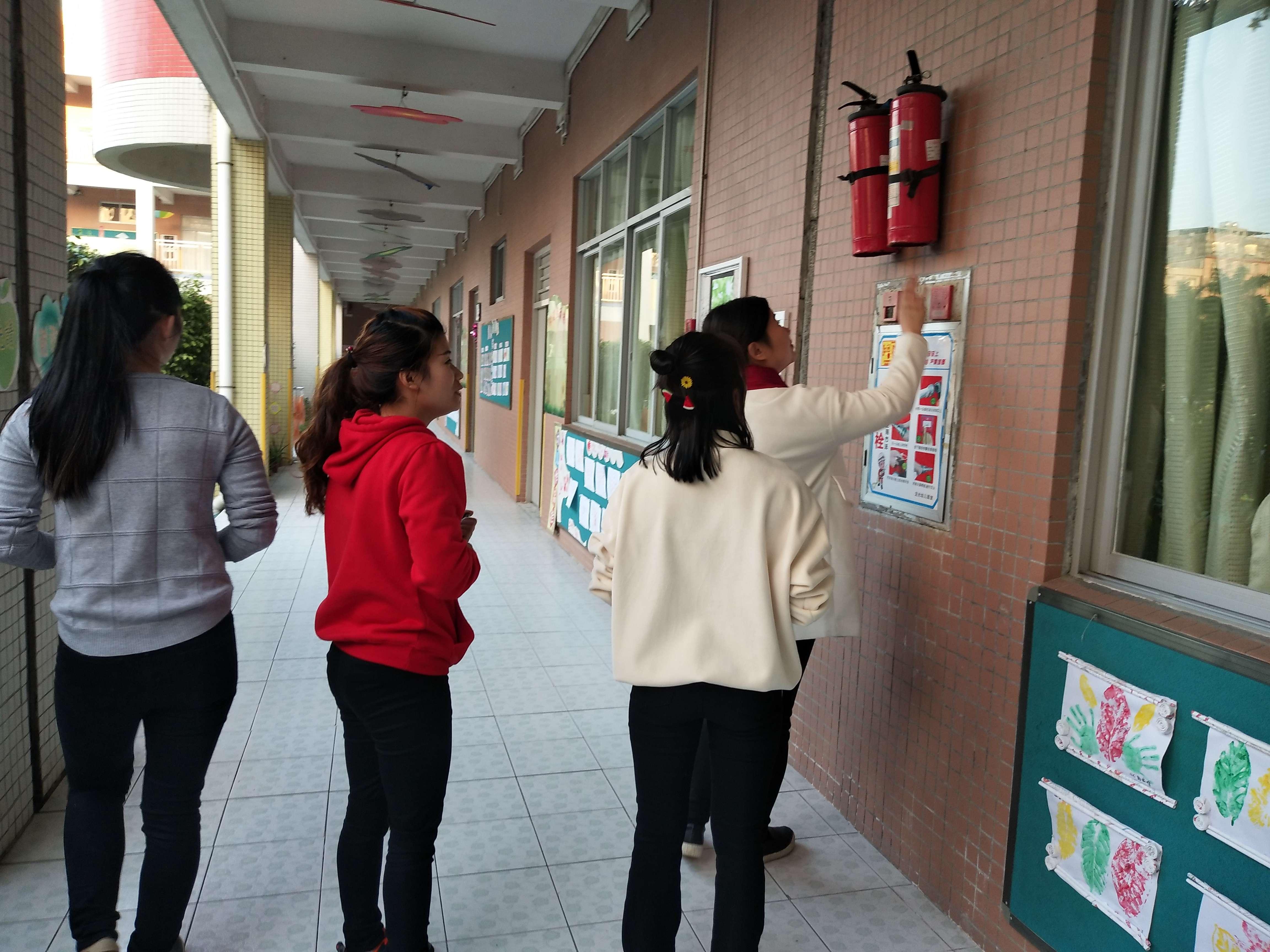 排除安全隐患,做好节前检查——记龙光幼儿园元旦假期
